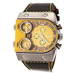 preiswerte Herrenuhren-Oulm Militäruhr Armbanduhr Sender Drei-Zeit-Zonen Weiß / Orange / Gelb / Zwei jahr / Zwei jahr / SOXEY SR626SW