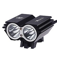 Fejlámpák LED 2000 Lumen 3 Mód Cree XM-L2 T6 Igen Újratölthető Vízálló Szuper könnyű Kompakt méret Kis méret mert