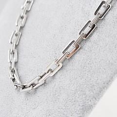 voordelige Kettingen-Heren Kettingen Titanium Staal Sieraden Uniek ontwerp Modieus Zilver Sieraden Dagelijks Causaal Kerstcadeaus 1 stuks
