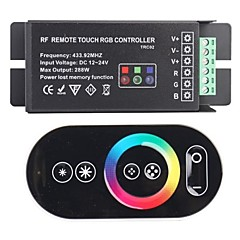 abordables Accesorios LED-TRC02 RF Remote Touch RGB Controller para RGB LED-Negro (433.92 288W DC 12 ~ 24V)