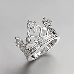 preiswerte Ringe-Damen Bandring versilbert Party Alltag Modeschmuck
