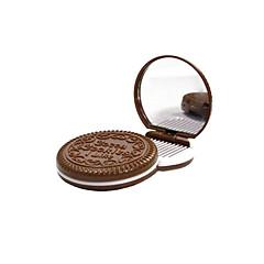 6,5 * 6,5 * 1,2 cm Choklad Cosmetic Mirror