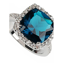 Fashion 925 Verzilverd Koper Zircon Ring