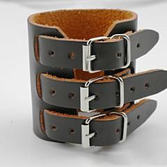 preiswerte Armbänder-Damen Lederarmbänder - Leder Armbänder Schwarz / Kaffee Für Alltag Normal
