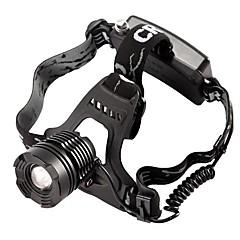 Hoofdlampen Opladers LED 800 Lumens Modus Cree T6 Verstelbare focus Waterbestendig voor Kamperen/wandelen/grotten verkennen Zwart
