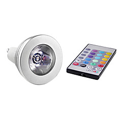 お買い得  LED 電球-3W 150lm E14 / GU10 LEDスポットライト MR16 1 LEDビーズ ハイパワーLED リモコン操作 RGB 85-265V / #