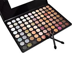 88 Paleta de Sombras Molhado / Mate / Mineral Paleta da sombra Pó Grande Maquiagem para o Dia A Dia / Maquiagem Esfumada