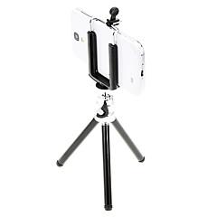 abordables Trípodes y Accesorios de Teléfono Móvil-Mini escritorio trípode de aluminio I-11-bk con dos pisos tres secciones (negro) y teléfono móvil del sostenedor del montaje del trípode