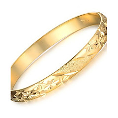 cheap Bracelets-Women's Cuff Bracelet - 18K Gold Plated, Gold Plated Unique Design, Fashion Bracelet Gold For Wedding / Party / Daily