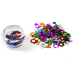 80PCS Glittle Letters Design Nail Art Decorations