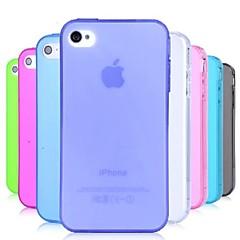 Недорогие Кейсы для iPhone-ТПУ пыли мягкий чехол для iPhone 4 / 4s (ассорти цветов)