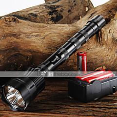 LED taskulamput LED 3800/3000 Lumenia 5 Tila Cree XM-L T6 Säädettävä fokus Lipsumaton kädensija varten Telttailu/Retkely/Luolailu