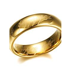 お買い得  指輪-男性用 バンドリング  -  チタン鋼 オリジナル 7 / 8 / 9 / 10 / 11 ブラック / シルバー / ゴールデン 用途 パーティー 日常 カジュアル