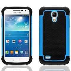 2-w-1 wzór sześciokątny wzór twarde etui z silikonu wewnętrznej stronie okładki dla Samsung Galaxy S4 mini i9190