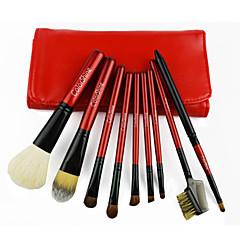 voordelige Make-up kwasten-9 Brush Sets Kwast van geitenhaar / Zwijnsborstel / Synthetisch haar / Paard Beugel / Horse Hair Hout Gezicht / Oog / Lip Overige