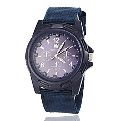 Men's Army Style Fabric Band Quartz Wrist Watch (Assorted Colors) Cool Watch Unique Watch Fashion Watch