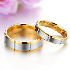 お買い得  指輪-カップル用 カップルリング  -  チタン鋼 ファッション 5 / 6 / 7 用途 結婚式 / パーティー / 日常