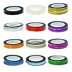 1PCS Striping Tape Line Nail Stripe Tape Nail Art Decoration Sticker(Assorted Color)