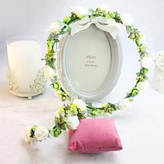 billige Hårsmykker-Dame Blomsterpige Silke Medaljon-Bryllup Speciel Lejlighed Krans