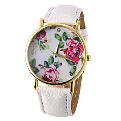 abordables Relojes-Mujer Reloj de Pulsera Cuarzo Reloj Casual PU Banda Analógico Flor Moda Negro / Blanco / Azul - Rojo Verde Azul