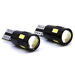 お買い得  カーアクセサリー-SO.K 2pcs T10 車載 電球 3 W SMD 5630 150 lm 6 LED インテリアライト
