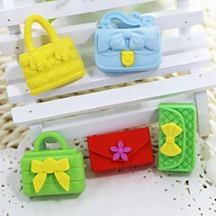 Cute Detachable Handbag And Wallet Shaped Eraser (Random Color x 5 PCS)
