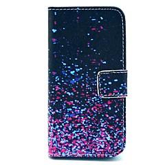 Недорогие Кейсы для iPhone 5-Кейс для Назначение iPhone 5 Apple Кейс для iPhone 5 Бумажник для карт Кошелек со стендом Флип С узором Чехол Градиент цвета Твердый Кожа