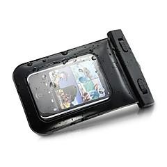 Недорогие Кейсы для iPhone-Кейс для Назначение универсальный iPhone 4/4S Водонепроницаемый с окошком Мешочек Сплошной цвет Мягкий ПК для