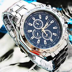 お買い得  メンズ腕時計-男性用 クォーツ リストウォッチ カジュアルウォッチ 合金 バンド チャーム シルバー