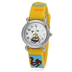 preiswerte Tolle Angebote auf Uhren-Damen Armbanduhren für den Alltag / Modeuhr Japanisch Armbanduhren für den Alltag Silikon Band Zeichentrick Gelb / Zwei jahr