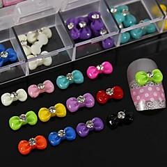100 buc mix rășină de culoare papion cu accesorii stras nu includ cutie de unghii 3d arta decorativa