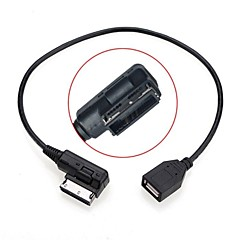 voordelige Audio & Video-0.2m man naar vrouw media in ami MDI usb aux flash drive adapter kabel voor auto vw audi 2014 a4 a6 q5 q7