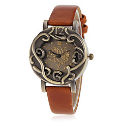 お買い得  レディース腕時計-女性用 ファッションウォッチ リストウォッチ クォーツ ホット販売 PU バンド ハンズ 花型 ヴィンテージ ブラック / ブルー / レッド - レッド グリーン ブルー