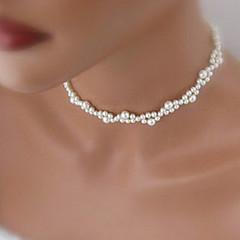 preiswerte Halsketten-Stränge Halskette - Künstliche Perle Weiß Modische Halsketten Schmuck Für Hochzeit, Party, Alltag, Normal