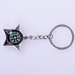 Llavero Estrellas Alta calidad Compases Plata Metal