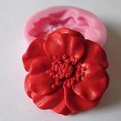 Blume Back Fondantkuchen Schokolade Süßigkeiten Schimmel, l4.8cm * w4.8cm * h1.2cm