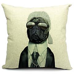 cartoon hond katoen / linnen decoratieve kussensloop