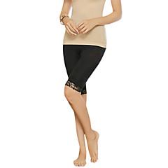 Shapewear Oddychalność / Zdatny do noszenia / Anti-Fuzz Nylon / Spandex / Chinlon Smooth / Koronki przybraniem Dół Kolan Średni Talia