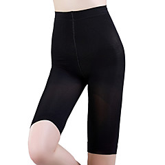 Corrigerend ondergoed Ademend / Draagbaar / Anti-Dons Nylon / Spandex / Chinlon Glad Knie-Lengte Medium Taille  Dun Zwart