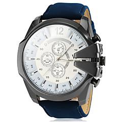 preiswerte Herrenuhren-V6 Herrn Quartz Armbanduhr Militäruhr Armbanduhren für den Alltag PU Band Charme Schwarz Braun Grün Marinenblau