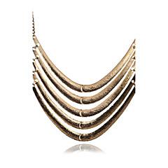 preiswerte Halsketten-Damen Mehrschichtig Statement Ketten / Layered Ketten - Erklärung, Personalisiert, Retro Silber, Golden Modische Halsketten Schmuck Für Party, Alltag, Normal