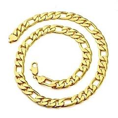 preiswerte Halsketten-Herrn Ketten - vergoldet Golden Modische Halsketten Schmuck Für Weihnachts Geschenke, Alltag, Sport