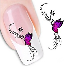 billige Dekaler-1 Neglekunst Klistermærke Vandoverførende decals 3D Negle Stickere Blomst Bryllup Makeup Kosmetik Neglekunst Design