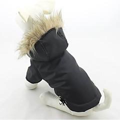 お買い得  犬用ウェア&アクセサリー-ネコ 犬 コート パーカー 犬用ウェア 保温 防風 純色 ブラック パープル レッド グリーン ブルー コスチューム ペット用