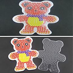1db sablon világos biztosíték gyöngyök pegboard sál medve minta 5mm hama gyöngyök DIY kirakós