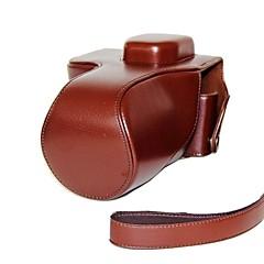 dengpin® δερμάτινη προστατευτική θήκη φωτογραφικής μηχανής μοτίβο κάλυμμα τσάντα λίτσι με ιμάντα ώμου για SONY ALPHA Α7 a7r ilce-7R