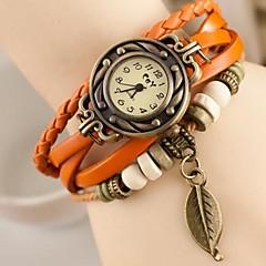 cheap Bracelet Watches-Women's Quartz Wrist Watch Casual Watch Leather Band Charm Fashion Multi-Colored