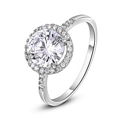 preiswerte Ringe-Damen Statement-Ring - Krystall, vergoldet, Diamantimitate Herz Klassisch 6 / 7 / 8 Silber / Golden Für Hochzeit / Party / Alltag / Kubikzirkonia