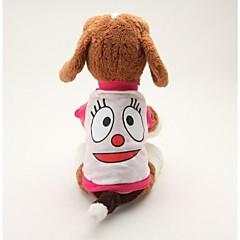 Köpek Tişört Köpek Giyimi Nefes Alabilir Sevimli Günlük/Sade Karton Mavi Pembe Kostüm Evcil hayvanlar için
