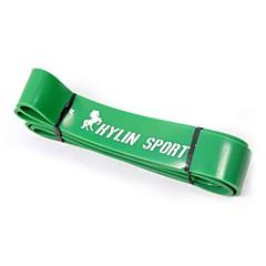 녹색 천연 라텍스 고무 체육관 훈련 저항 밴드 피트니스 지원 풀업 크로스 핏